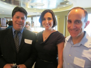 Kate Mesic (JWLA President-elect) with Bruce Maxwell and Chris Shakib