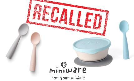 Bonnsu Miniware Teething Spoons Recall