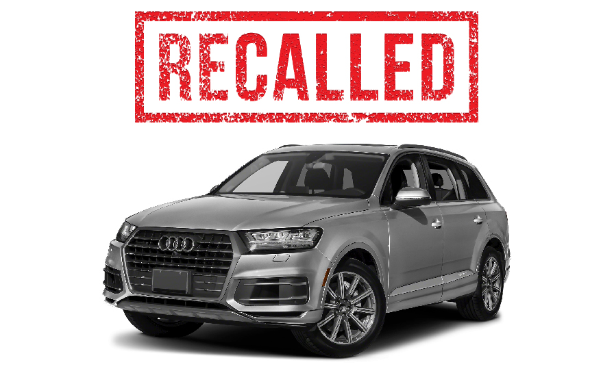 Audi Q7 SUV recalled- Failure to meet federal safety standards for head injury prevention.