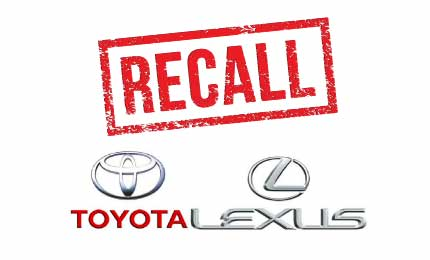 recalls on sixty-five models of newer Toyota & Lexus vehicles