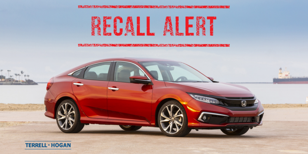 2019 Honda Civic Touring. Part of the Honda and Acura fuel pump recall.